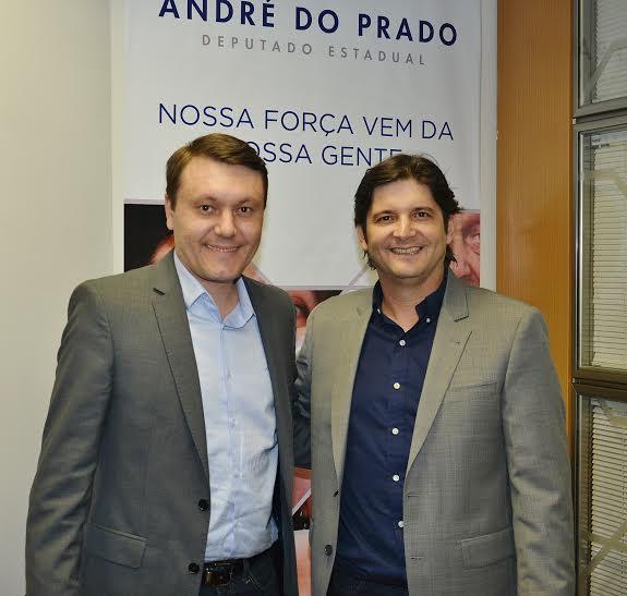 Deputado e o prefeito Adriano.