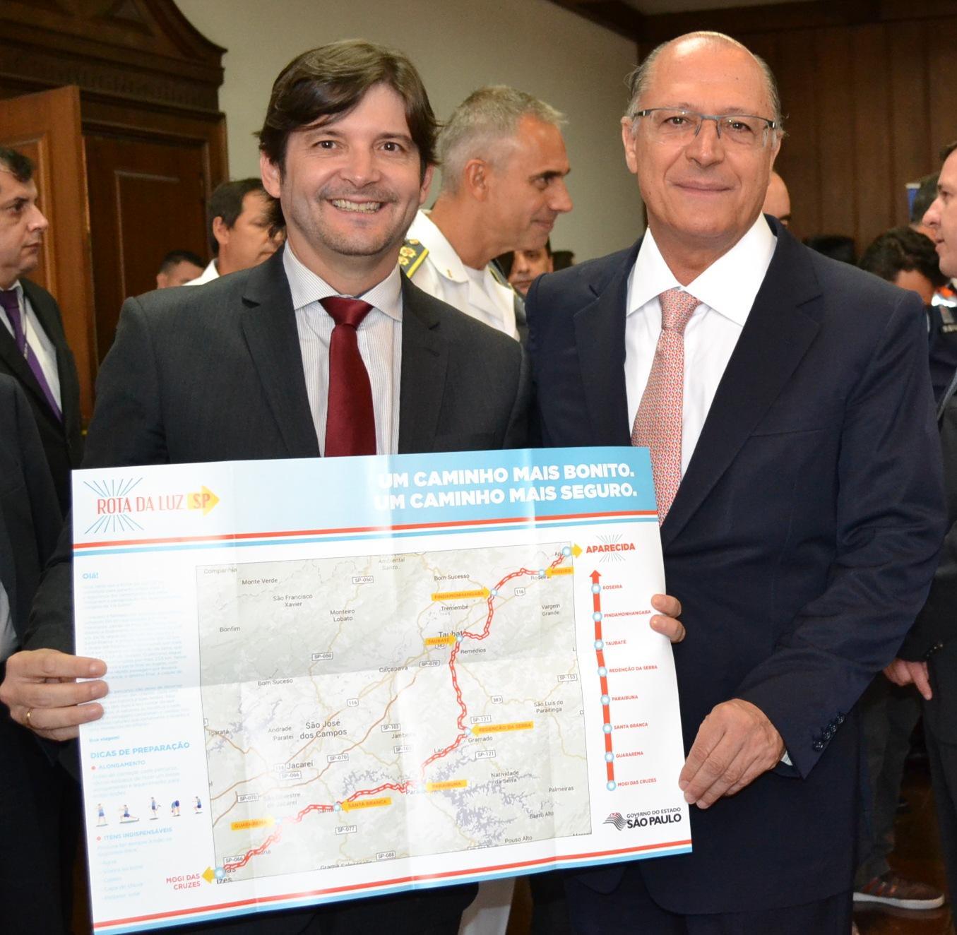 Deputado André do Prado com o governador Geraldo Alckmin