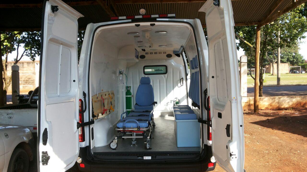 Interior da ambulância já à disposição de Motuca