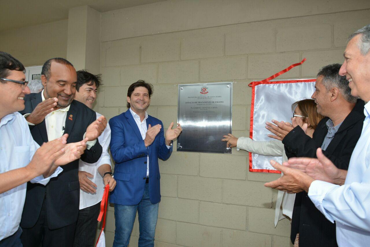 Inauguração da Estação de Tratamento de Esgoto na cidade