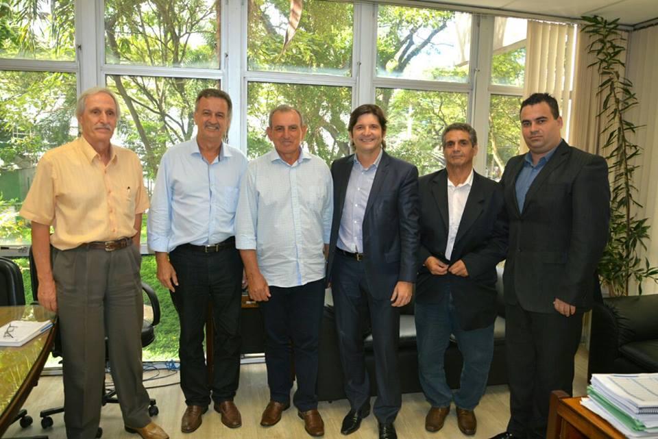 Reunião na Sabesp com o Luiz Paulo e o prefeito Ayres Scorsatto