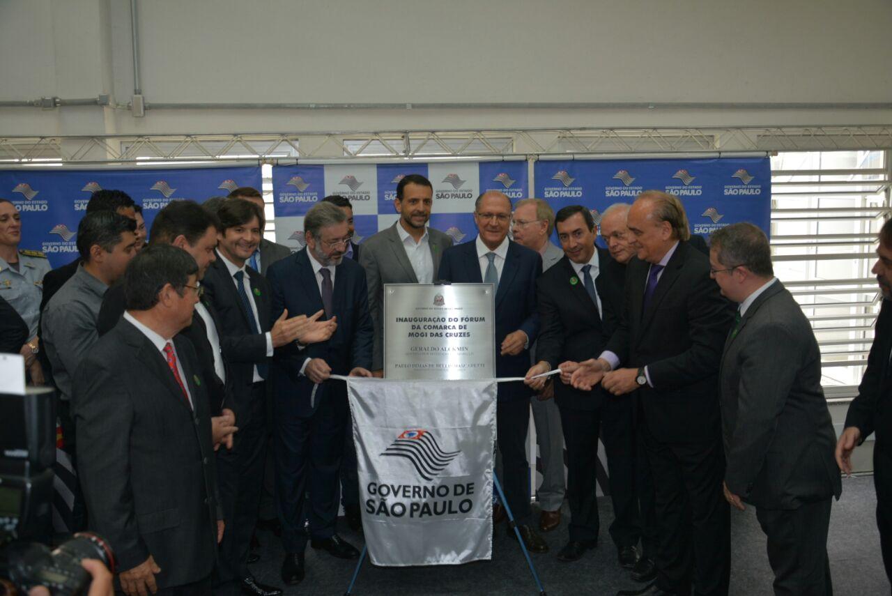 Inauguração do novo Fórum em Brás Cubas.