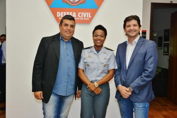 Subprefeito Nilson, coronel Helena e o deputado André do Prado