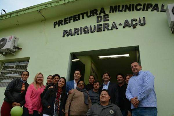 Reunião em Pariquera-Açu com o prefeito José Carlos e o vice-prefeito, Wagner Costa