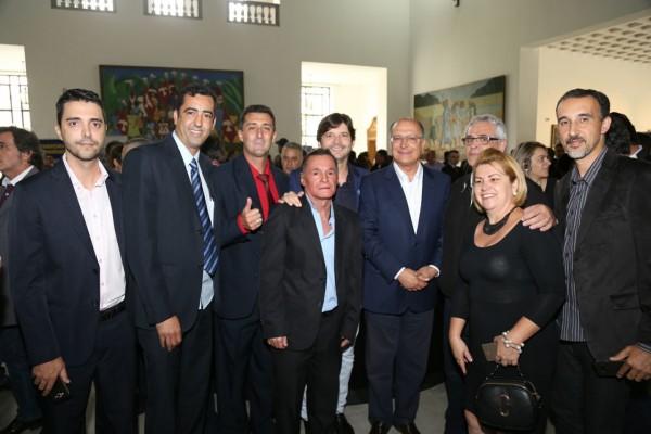 Deputado André do Prado , governador Geraldo Alckmin, prefeito e vereadores de Santa Branca