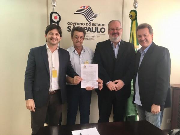 Deputado André do Prado, prefeitos Flávio Priandi (Jales) e Euclides Scriboni (Dirce Reis) falam sobre melhorias