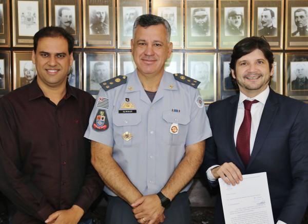 Encontro foi intermediado pelo parlamentar, que convidou o coronel para uma visita à região