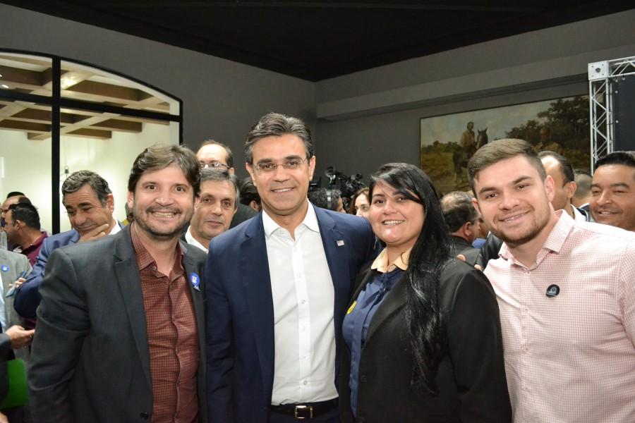 Deputado André do Prado na companhia do vice-governador Rodrigo Garcia, da prefeita Débora Volpini e do vice-prefeito Leandro Volpini