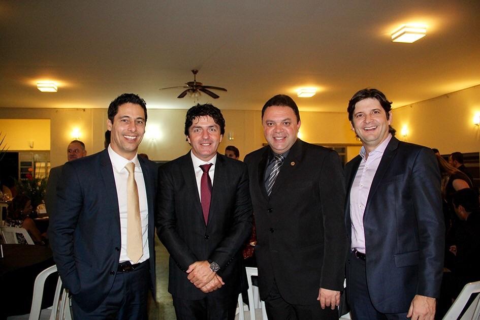 Deputado Marcio Alvino, Prefeito Inho, Deputado Damásio e Deputado André do Prado