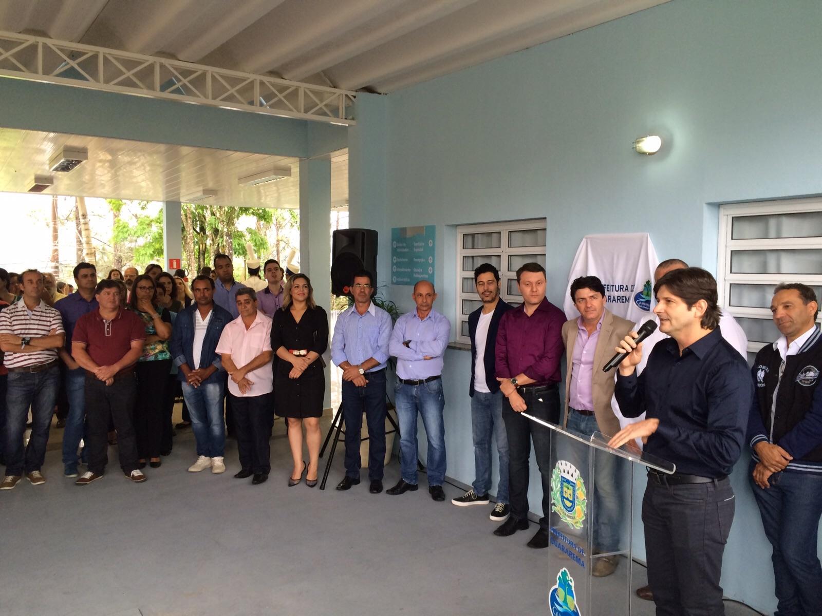 Deputado André do Prado discursa no evento