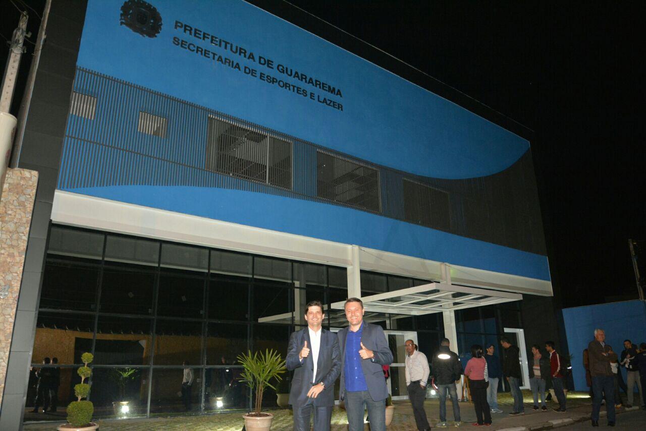 Inauguração da nova sede da Secretaria de Esportes.
