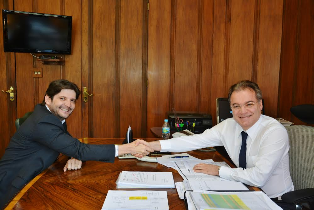 Deputado com o secretário-chefe da Casa Civil, Samuel Moreira