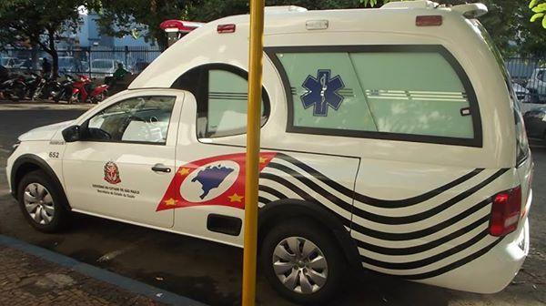 Ambulância adquirida pela Prefeitura através de recursos encaminhados pelo deputado André do Prado