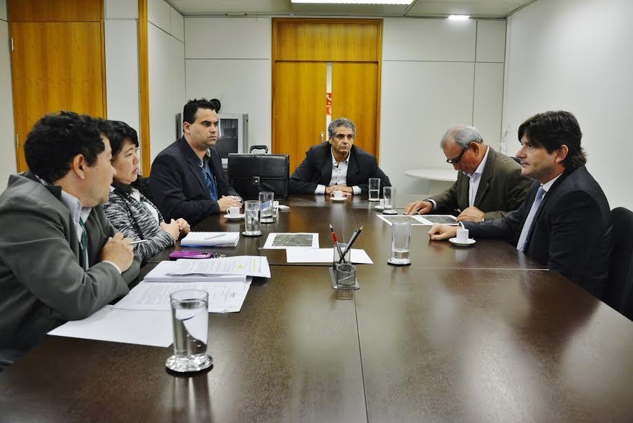 Reunião com o prefeito Ayres Scorsatto com os técnicos da ANTT
