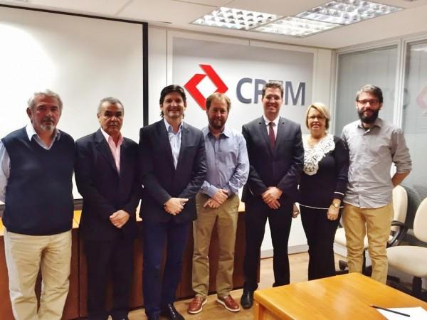 Reunião com o presidente da CPTM e os vereadores de Campo Limpo.