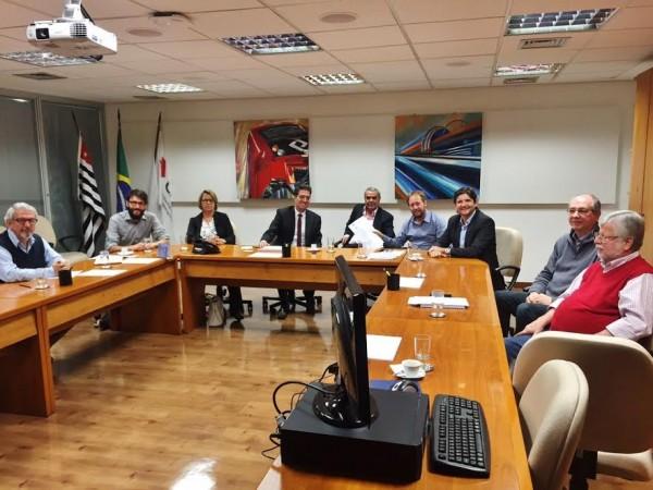 Reunião na CPTM, agendada pelo deputado André do Prado e os vereadores de Campo Limpo Paulista