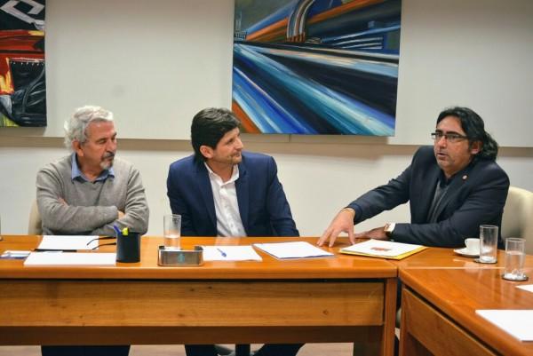 Deputado André do Prado e o vereador Farofa com o diretor da CPTM, Bissacot