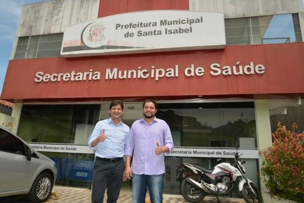 Deputado André do Prado e o secretário municipal de Saúde, Clebão do Posto