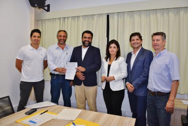 Reunião com a comitiva de Colina, o deputado André do Prado e o diretor da Univesp, Ricardo Bocalon