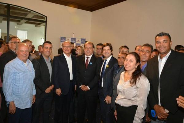 Deputado André do Prado com o prefeito Dr. José Luiz Monteiro, o Governador Geraldo Alckmin e autoridades