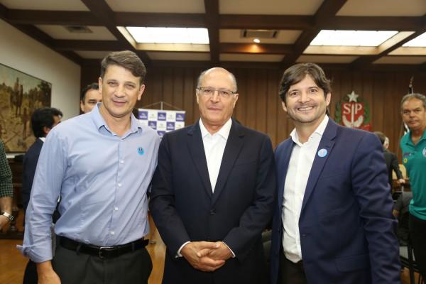 Prefeito Dr Isael, governador Geraldo Alckmin e o deputado André do Prado