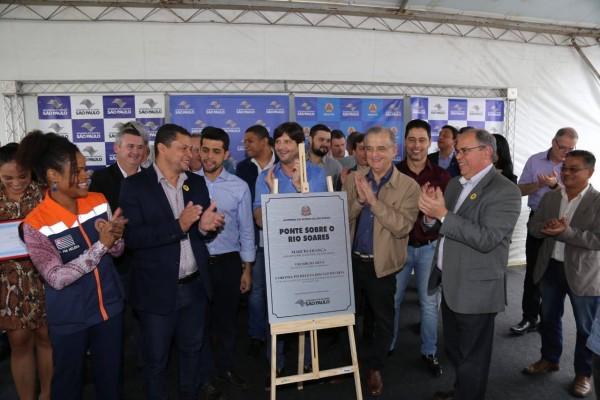Governador Márcio França entrega, de forma simbólica, ponte construída após solicitação do deputado André do Prado