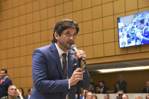 Deputado estadual André do Prado tomou posse para o terceiro mandato na Assembleia Legislativa