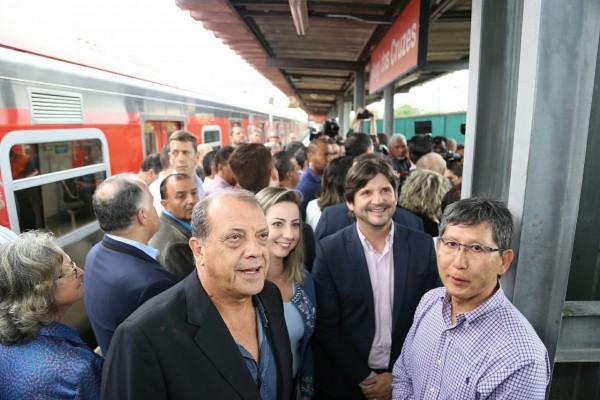 O deputado esteve em Mogi das Cruzes e acompanhou o anúncio da expansão das viagens do Expresso Leste, na linha 11-coral, da CPTM