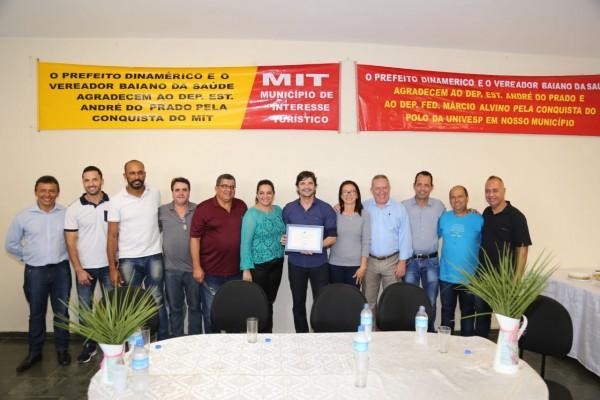 Parlamentar foi o autor do projeto de Lei que concede o título de MIT à cidade, que o possibilita receber investimentos para fomentar o setor na cidade