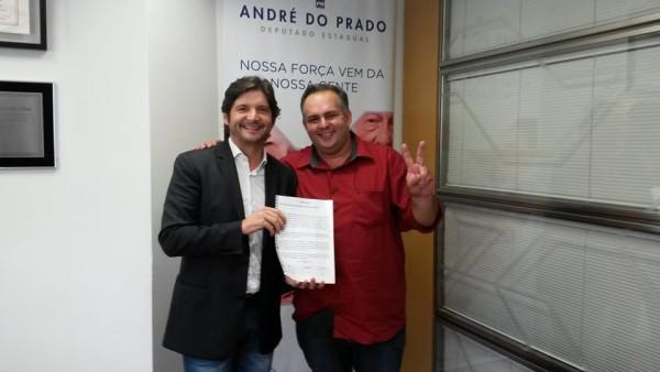 Deputado André do Prado e o vereador Rodrigo Nascimento