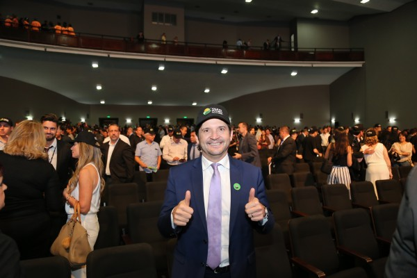 O deputado André do Prado participou do evento no Palácio dos Bandeirantes
