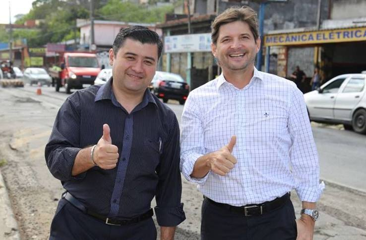 Prefeito Rodrigo e o deputado André do Prado