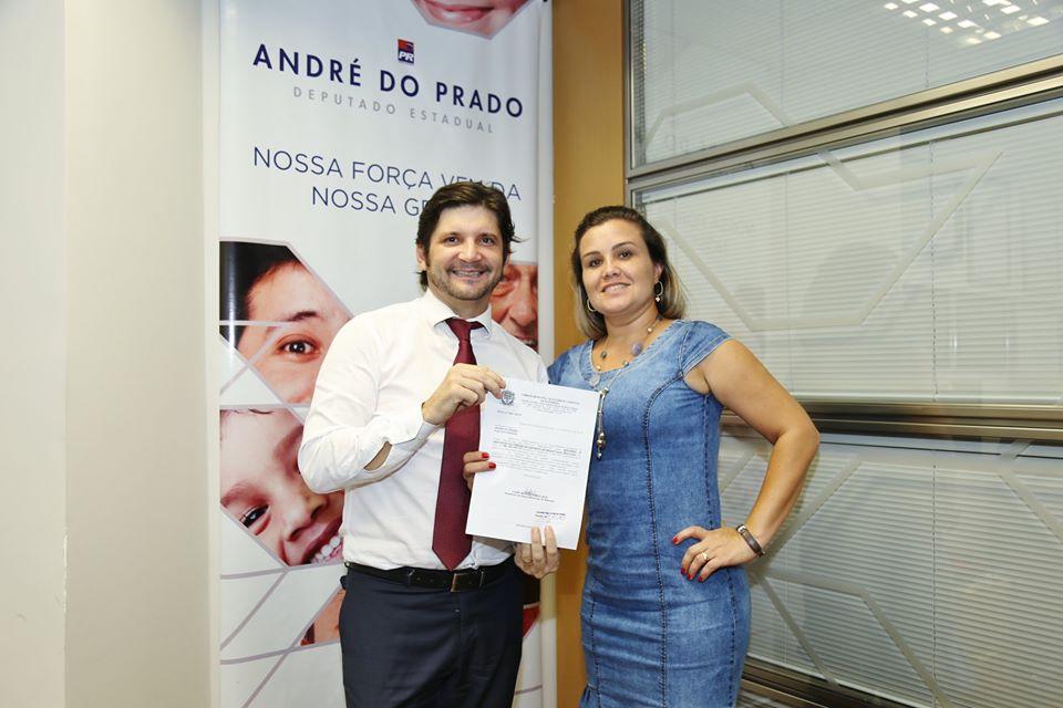 Deputado e a vereadora Luana da Barra